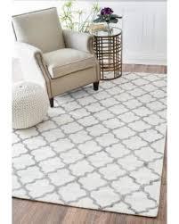 interior deal alert nuloom contemporary trellis viscose white grey rug elegant nuloom prime 1