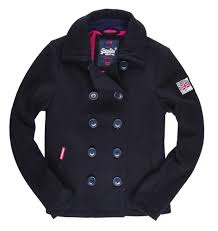 superdry rookie peacoat coats navy women s clothing superdry dresses superdry t shirts polo