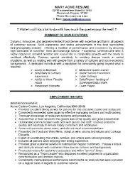 Waiter Resume Sample Waitress Resume Examples Sample Skills