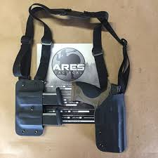 Double Magazine Pouch With Handcuff Holder ARES Tactical Shoulder Holster 92