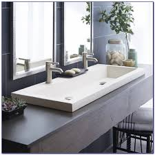 full size of bathroom sink wonderful bathroom amusing double faucet sink undermount trough throughout measurements