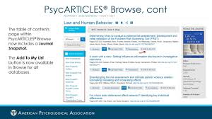 American Psychological Association Upgrades Apa Psycnet To Bring