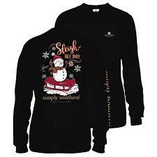 Simply Southern Size Chart Youth Simply Southern Youth Long Sleeve Sleigh T Shirt For Girls
