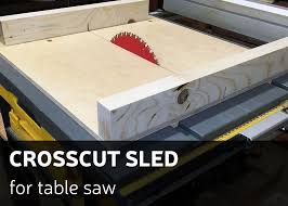 picture of how to make a crosscut sled for table saw