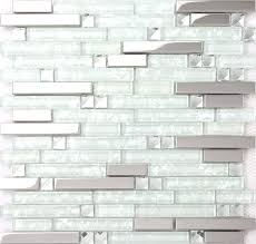 clear glass tile strip silver stainless steel mixed clear glass mosaic tiles for clear grout for clear glass tile