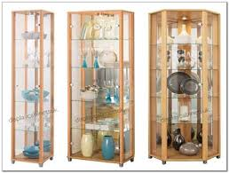 Corner Curio Cabinets With Glass Doors   Best Home Furniture Design