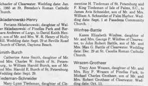 James Avis Schneider and Mary-Lynn Tiedeman - Wedding To Be Announcement -  Newspapers.com
