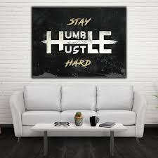 cheap office wall art. Stay Humble Hustle Hard - Motivational Inspirational Canvas Office Wall Art ( Cheap