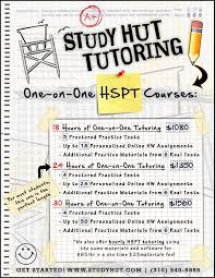 hut flyer hspt copy study hut tutoring study hut tutoring