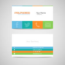 Free Sample Business Cards Templates Sm Vc Free Social Media Business Card Vector Format Design WEB 15