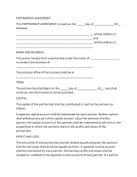 A partnership contract usually states the name of both the parties at the starting in form of a statement. 40 Free Partnership Agreement Templates Business General