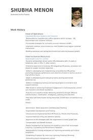Head Of Operations Resume Samples Visualcv Resume Samples Database