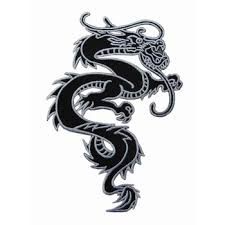 Chinese Dragon Kung Fu Martial Arts Tattoo Applique Iron On Patch