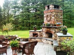 image of outdoor fireplace and grill