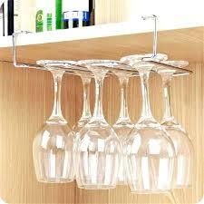 wine glass storage under cabinet glass rack stainless steel wine glass holder under cabinet wall wine