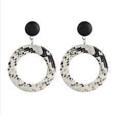 home fashion jewelry fashion earrings leather earrings