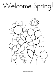 Small Picture Welcome Spring Coloring Page Twisty Noodle