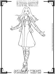 Small Picture Scarlet Witch Coloring Page Archives Mente Beta Most Complete