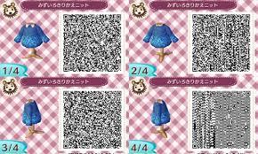 とび森ニットやセーターのマイデザインqrコードまとめオシャレな服