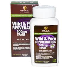 Genceutic Naturals Wild Reines Resveratrol 500 Mg 60 V Kapseln