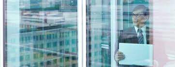 office glass windows. Business Man Seen Through Office Windows Glass G