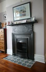 Edwardian tiles in front of the fireplace