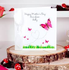 Mother Day Card Personalised Butterfly Mothers Day Card By Made With Love Designs