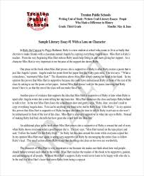 literary essay examples samples formal literary sample