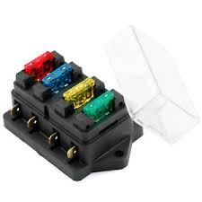 hot car van circuit standard ato blade v v fuse box block image is loading hot car van circuit standard ato 4 blade