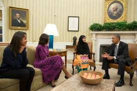 obamas oval office. President Barack Obama, First Lady Michelle And Their Daughter, Malia, Meet With Malala Yousafzai In The Oval Office. (Official White House Photo By Obamas Office