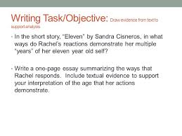 eleven by sandra cisneros ppt video online  6 writing