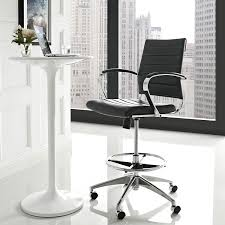 com modway jive drafting chair in black reception desk chair tall office chair for adjule standing desks drafting table chair counter
