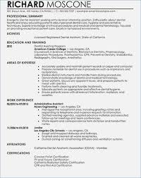 Orthodontic Assistant Resume Inspirational Examples Dental Assistant