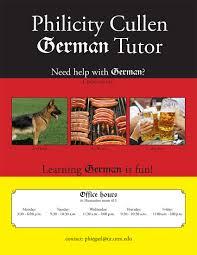 German Tutor Flyer | Matthew Cullen's Website