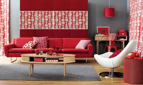 Red leather living room furniture Sitting Room Astonishing Red Living Room With Red Sofa And White Accent Chair Lounge201com Interior Design Astonishing Red Living Room With Red Sofa And White