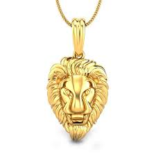 lion s roar gold pendant jewellery ping india yellow gold 22k candere by kalyan jewellers