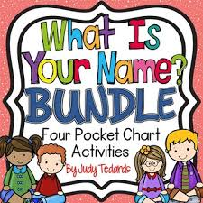 What Is Pocket Chart What Is Your Name Bundle Four Pocket Chart Activities