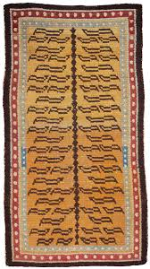 tibetan rugs at cologne fine art 2016 tiger rug with double pearl border 19th