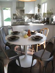 kitchen table sets ikea chairs white round top table dark floor window wall cabinets stove faucet