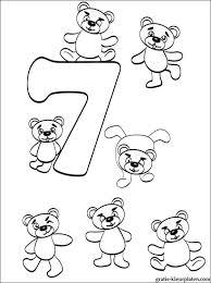 Kleurplaat Cijfer 7