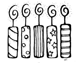 birthday candle clip art black and white.  White Birthday Candle Black And White Clipart 1 On Clip Art WorldArtsMe
