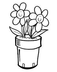 Disegno Di Vaso Di Fiori Da Colorare Per Bambini