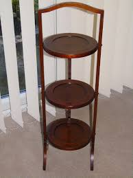 french 3 tier wooden folding cake stand