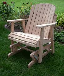 incredible patio furniture glider chairs wodden yard glider chair amish oak barrel glider chair wood