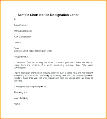 How To Format A Formal Letter Immediate Resignation Notice Word Format Letter With Period