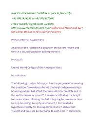 ib physics hl sl ia extended essay help