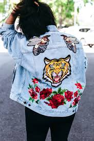 gucci denim jacket. an exceptional seed was planted when alessandro michele took the helm at gucci just about a year and half ago. sprouted into\u2026 denim jacket r