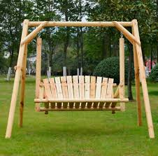 garden swing bench 2 seater outdoor porch bench rustic wooden seat furniture