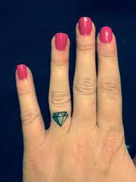Set Of 4 Diamond Ring Finger Tattoo Bachelorette Party Temporary Tattoo