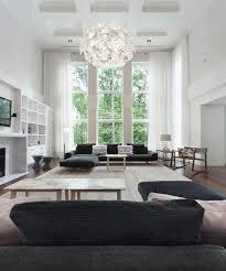 high ceiling living room plus chandelier lighting fixtures and